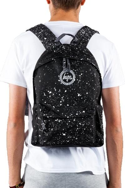 Hype Speckled Backpack Rucksack Bag Black
