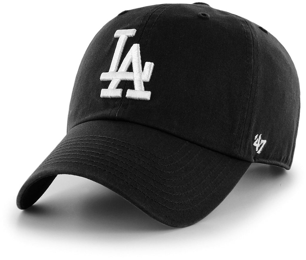 47 Brand MLB Los Angeles Dodgers '47 Clean Up Adjustable Baseball Cap Black