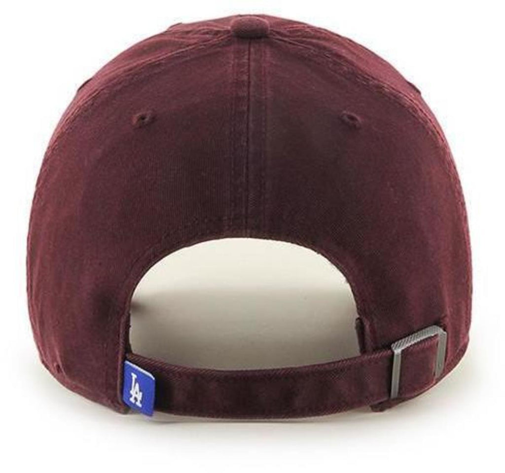 47 Brand MLB Los Angeles Dodgers '47 Clean Up Adjustable Baseball Cap Burgundy