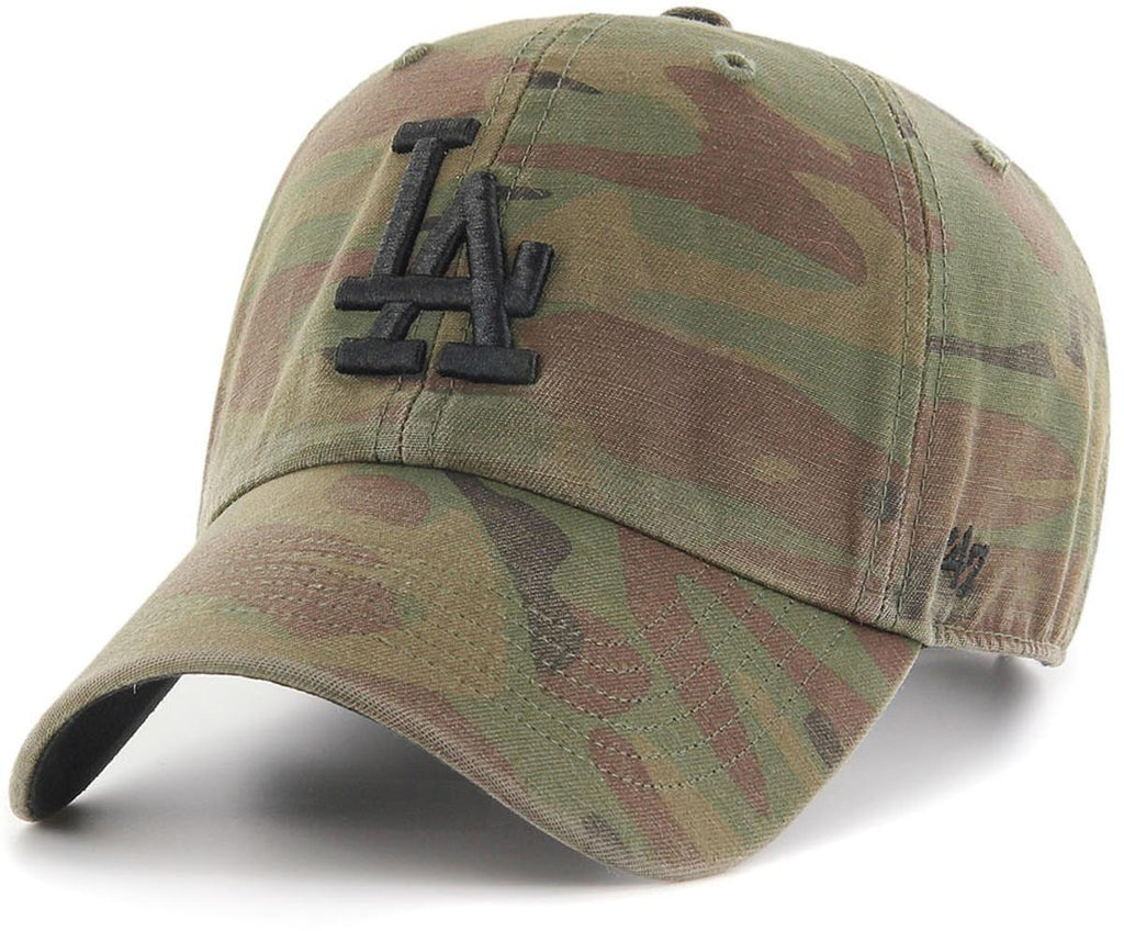 47 Brand MLB Los Angeles Dodgers '47 Clean Up Adjustable Baseball Cap Camo