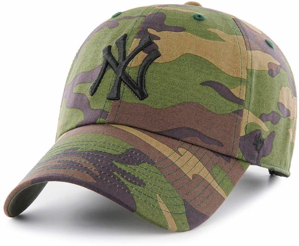 47 Brand MLB New York Yankees '47 Clean Up Adjustable Baseball Cap Camo