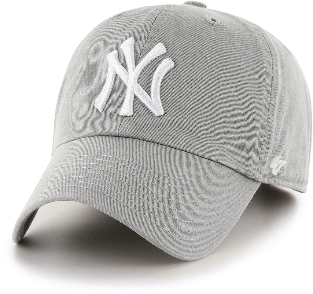 47 Brand MLB New York Yankees '47 Clean Up Adjustable Baseball Cap Grey