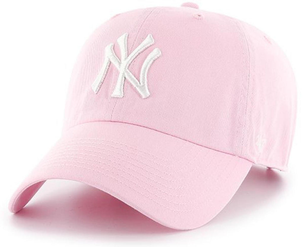 47 Brand MLB New York Yankees '47 Clean Up Adjustable Baseball Cap Pink