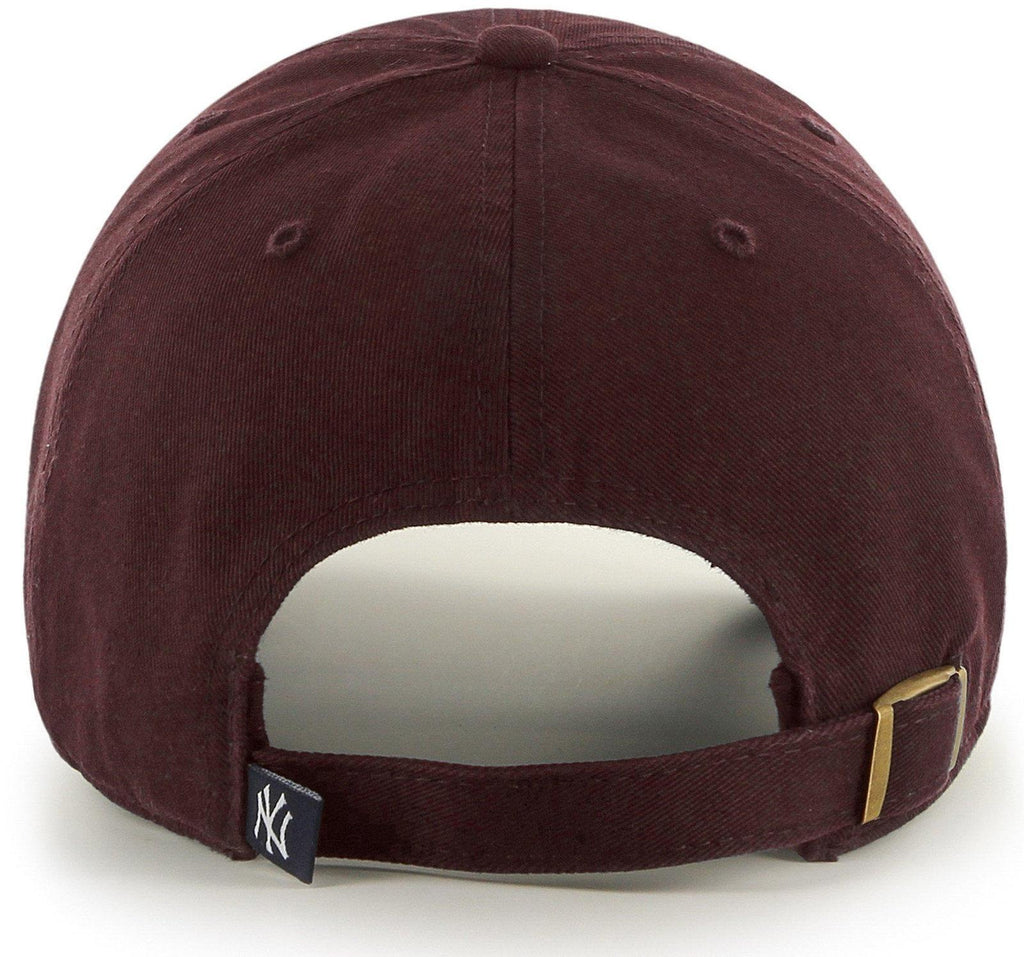 47 Brand MLB New York Yankees '47 Clean Up Adjustable Baseball Cap Burgundy