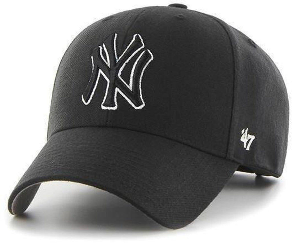 47 Brand New York Yankees MVP Adjustable Baseball Cap Black
