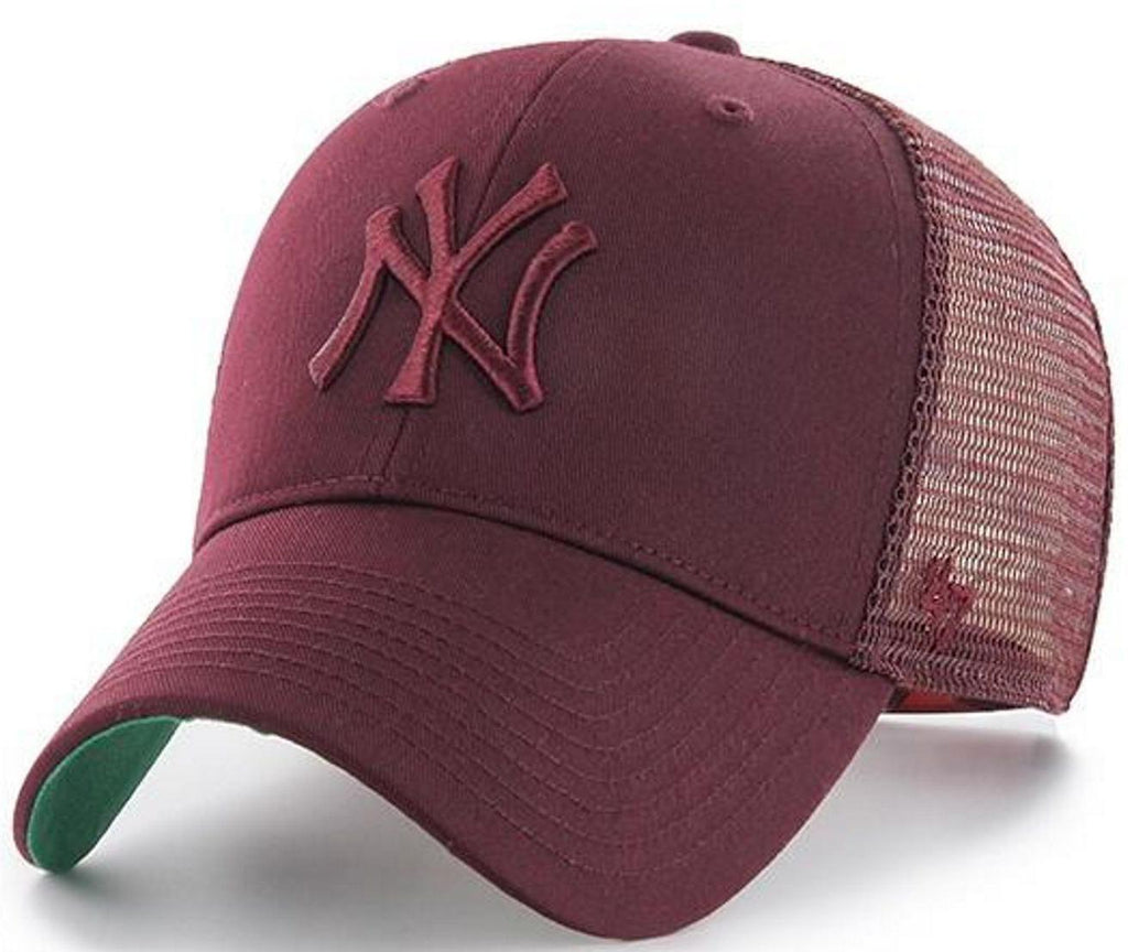 47 Brand New York Yankees Branson MVP Trucker Cap Burgundy