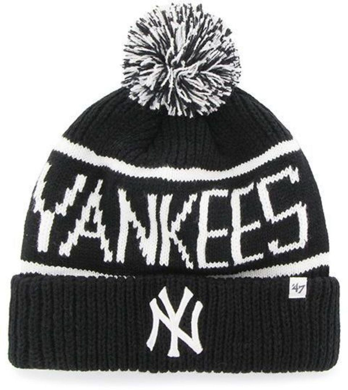 02b1b6745 ... coupon code for new era mens essential ny yankees cuff knit beanie  black black one 47