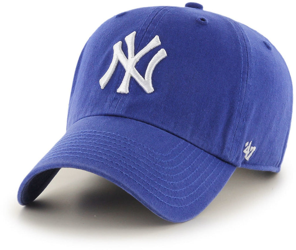 47 Brand MLB New York Yankees '47 Clean Up Adjustable Baseball Cap Blue