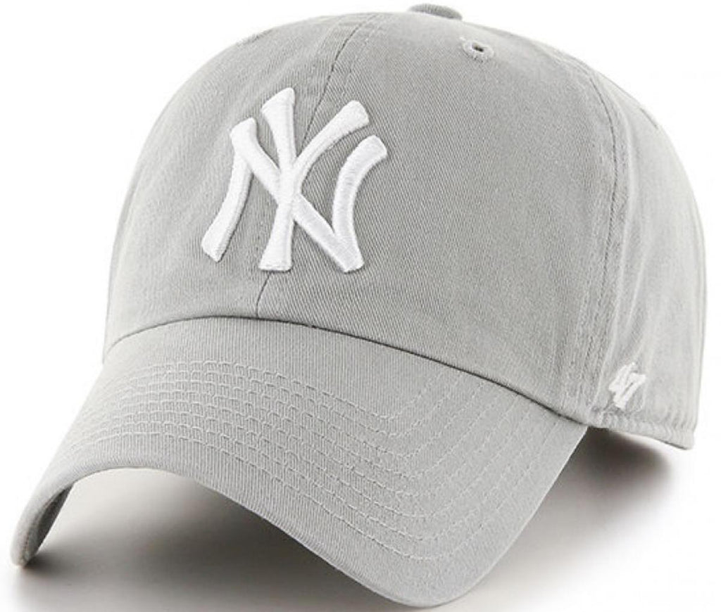 47 Brand New York Yankees MVP Adjustable Baseball Cap Light Grey