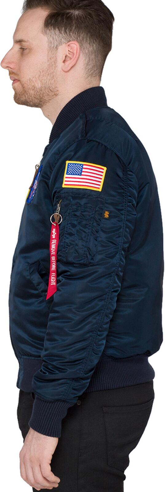 Alpha Industries MA-1 VF NASA Flight Jacket Blue