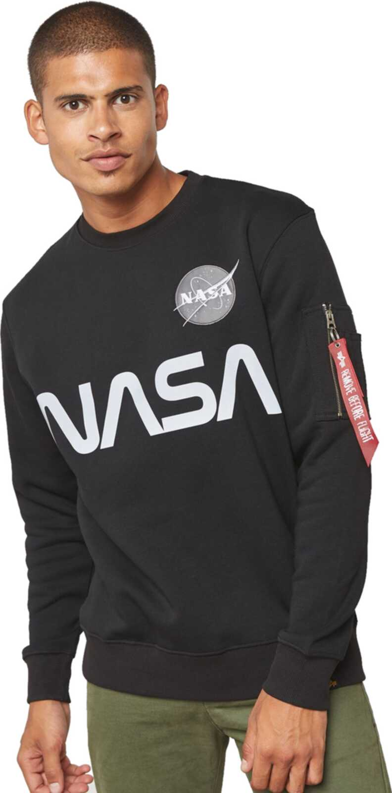 Alpha Industries NASA Reflective Sweatshirt Black