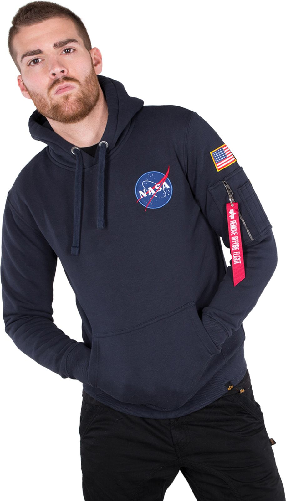 Alpha Industries Space Shuttle Hoodie Navy