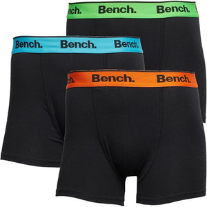 Bench Barnes 3 Pack Trunk Boxer Shorts Black