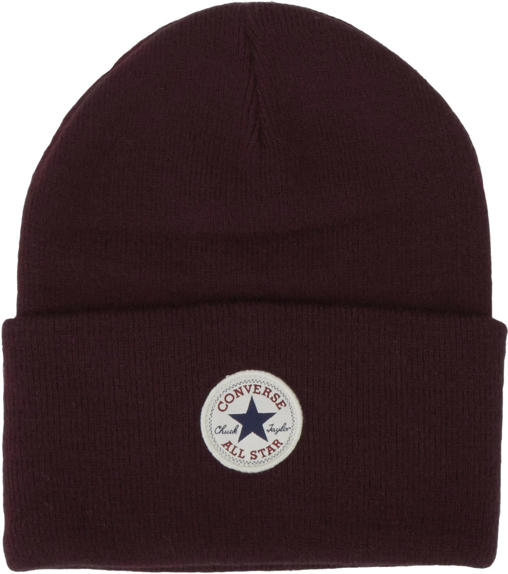 Converse All Star AW17 Knitted Beanie Hat Burgundy
