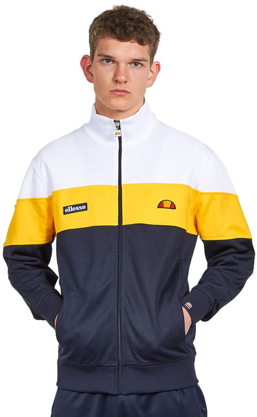 Ellesse Caprini Track Top Navy