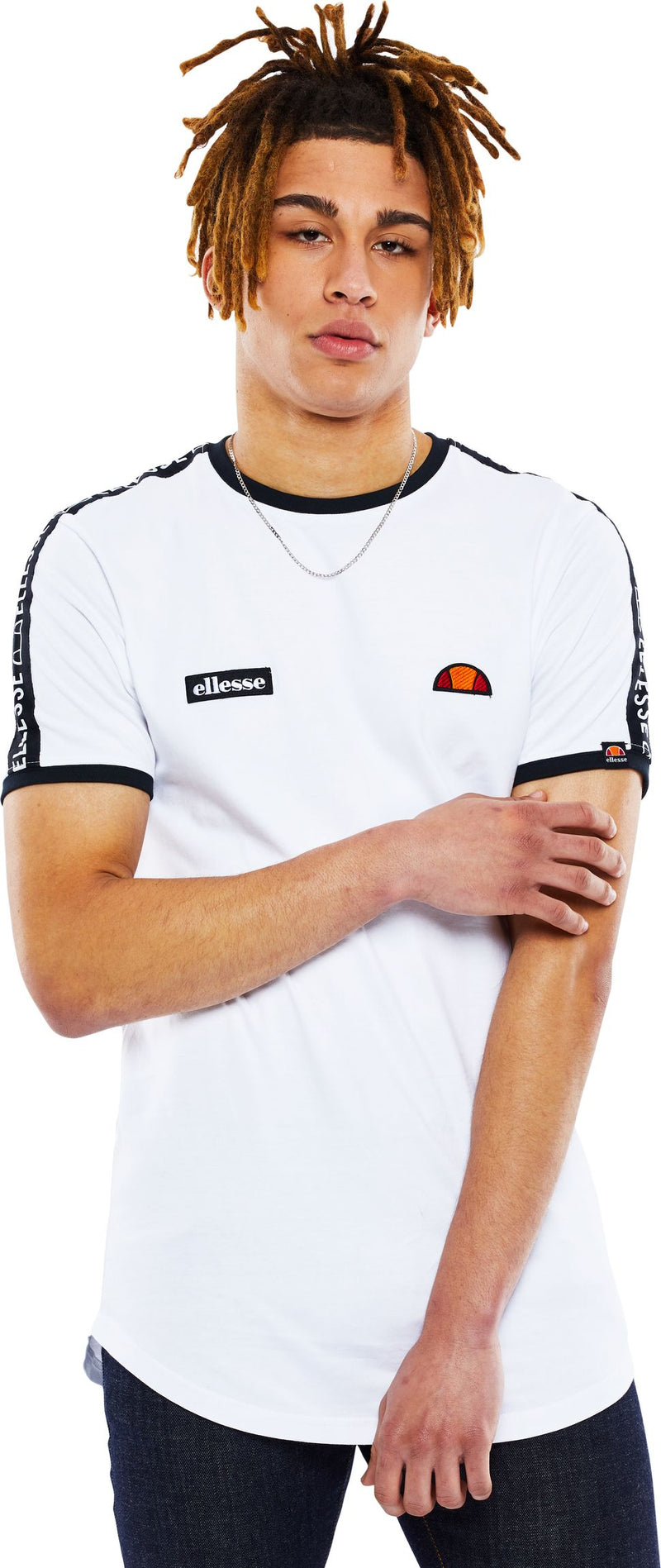 Ellesse Fede Taped T-Shirt White