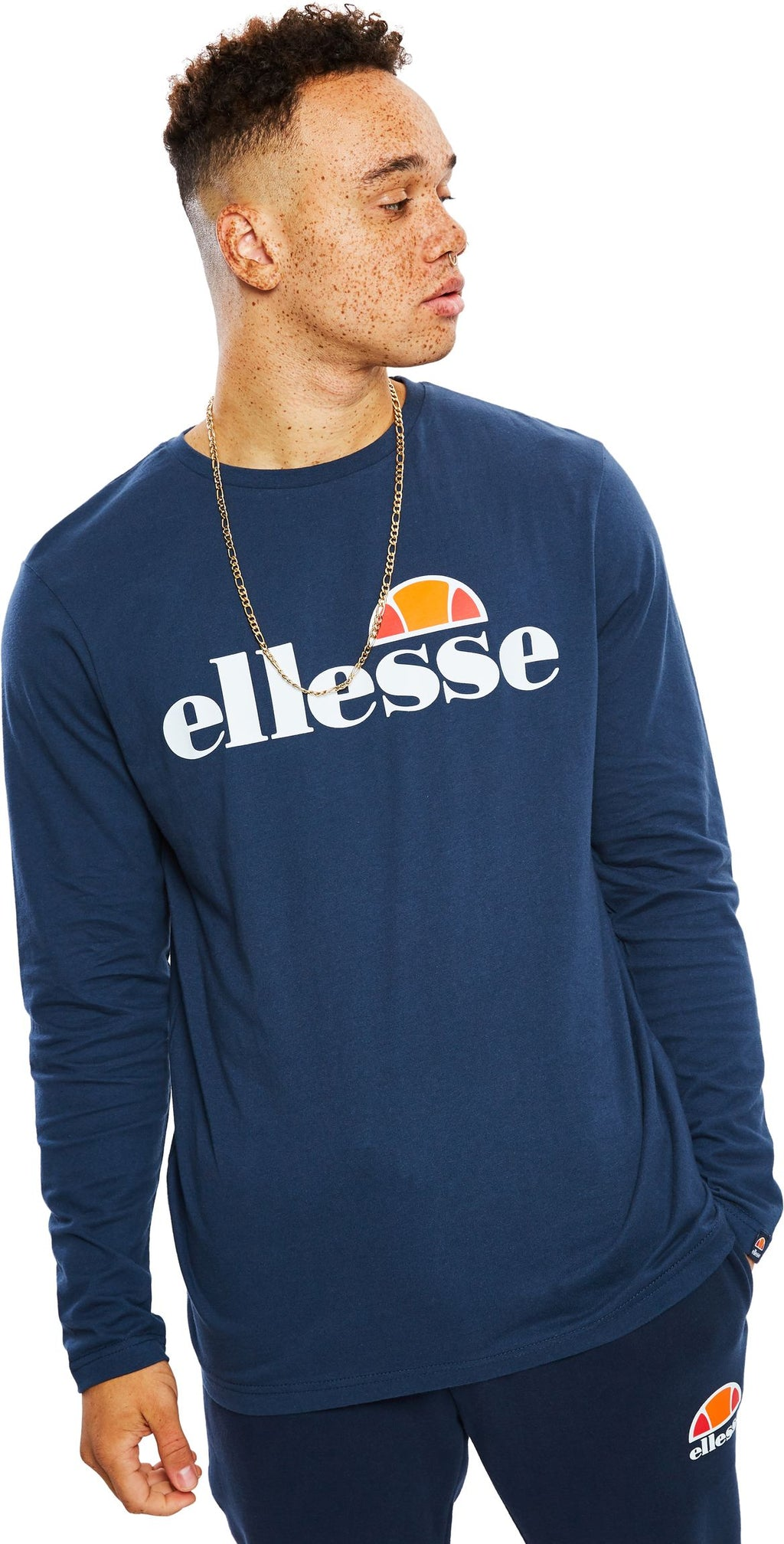 Ellesse-Grazie-Long-Sleeve-T-Shirt-Blue