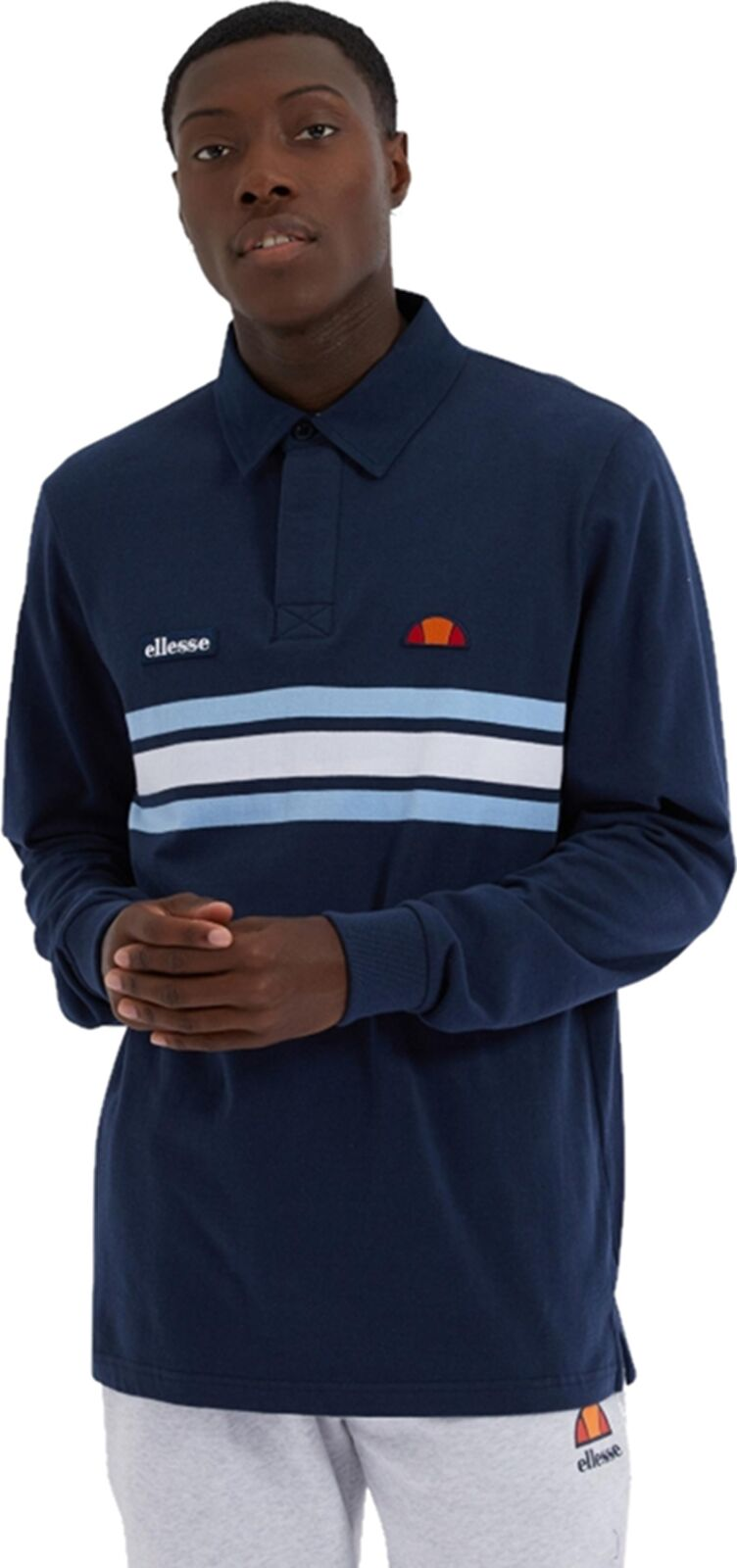 Ellesse Mazzi Rugby Shirt Navy