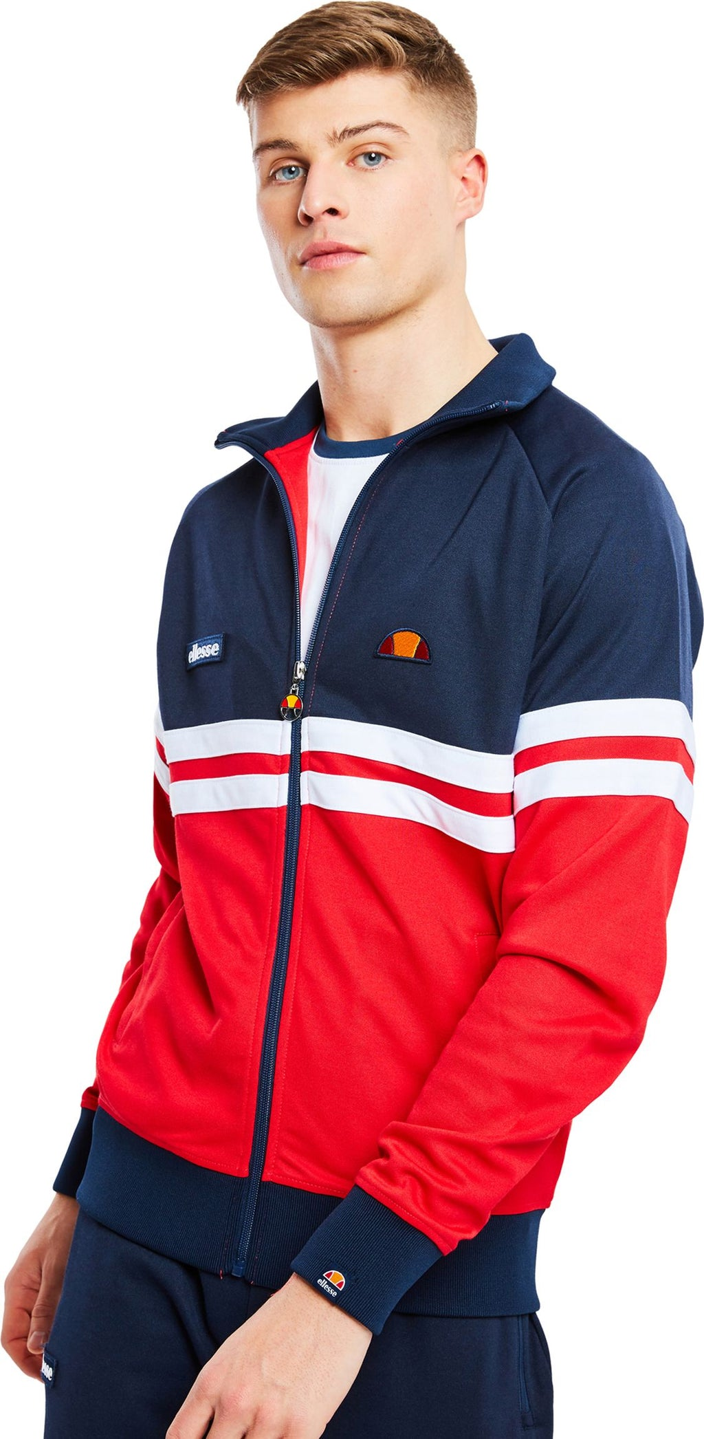 Ellesse Rimini Zip Front Track Top Red
