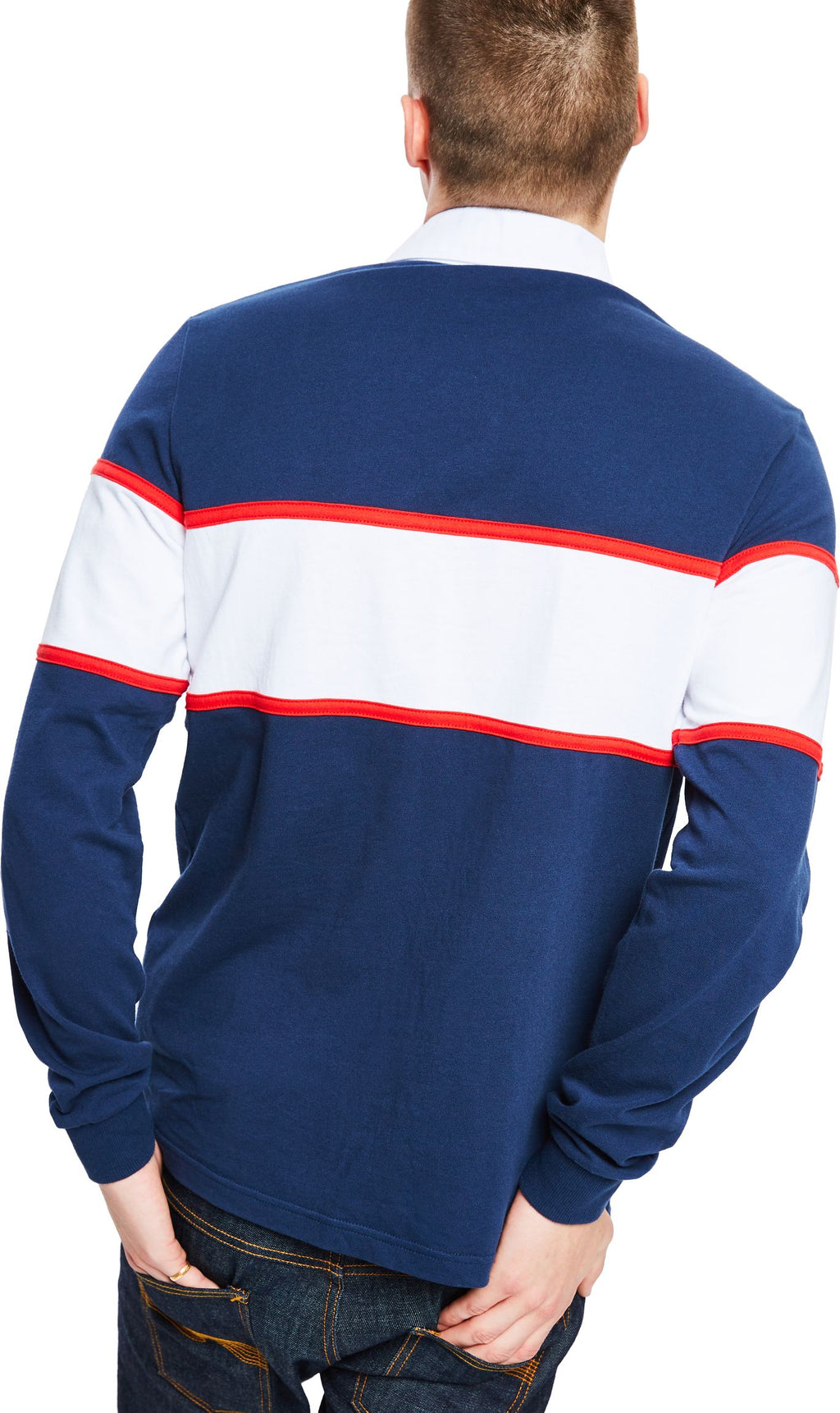 Ellesse Taylor Long Sleeve Polo Shirt Navy