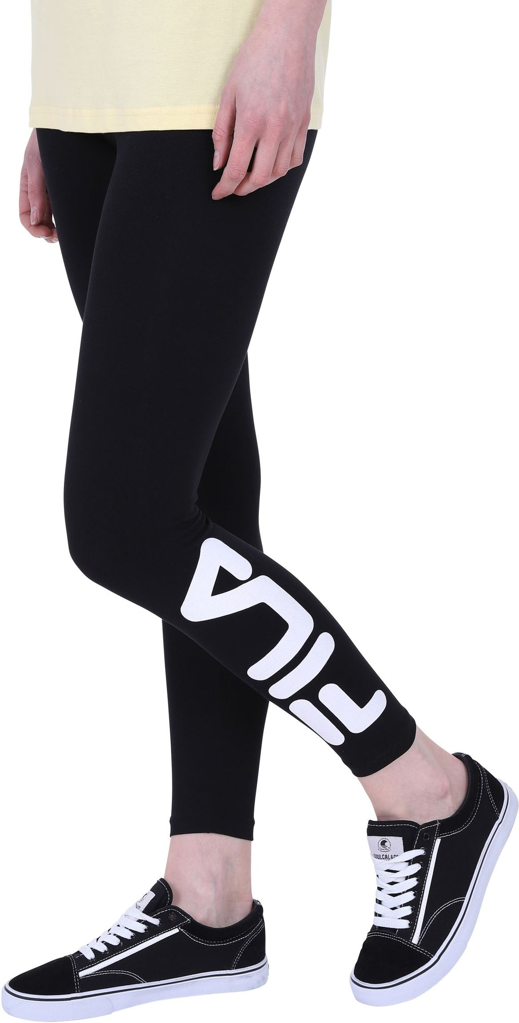 Fila Avril Logo Leggings Black
