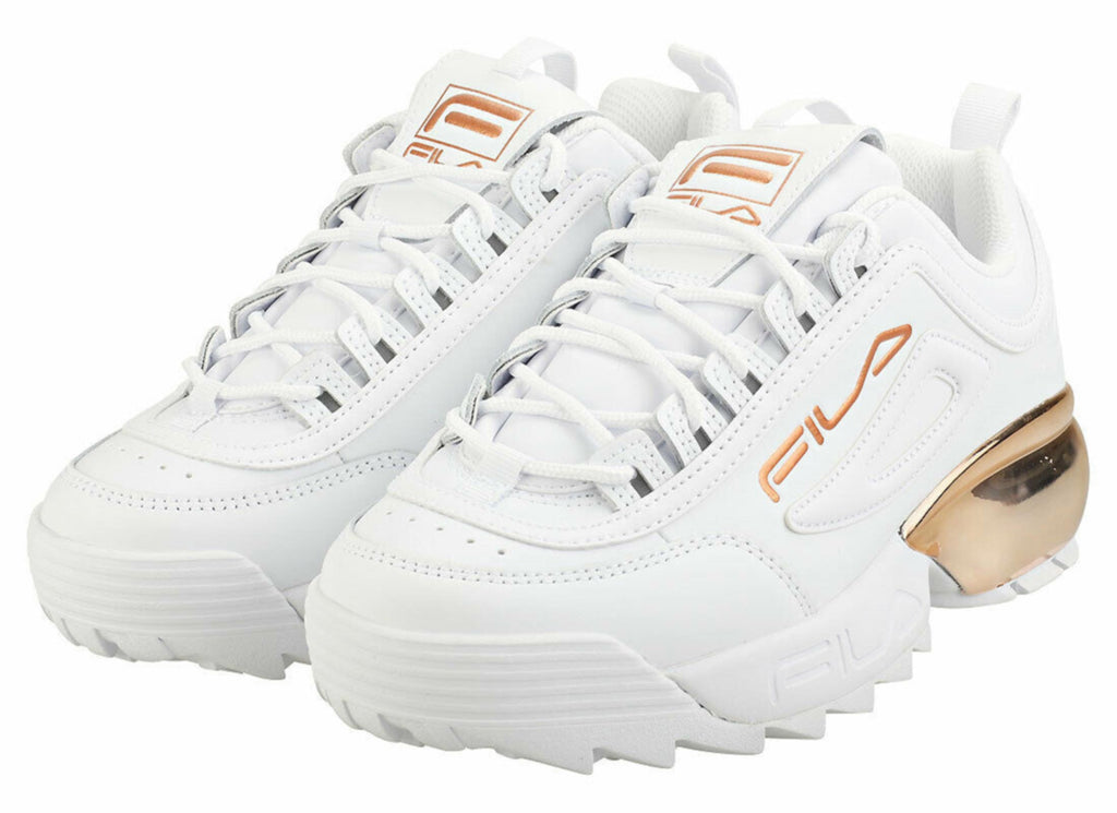Fila Disruptor 2A Chrome Trainers White
