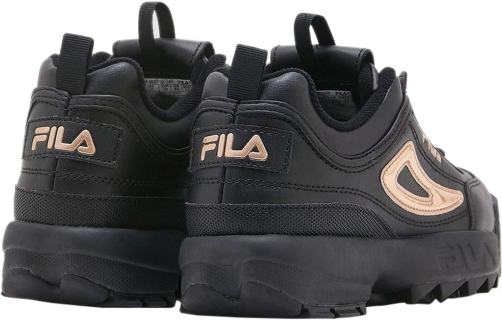 Fila-Disruptor-II-Metallic-Accent-Trainers-Black