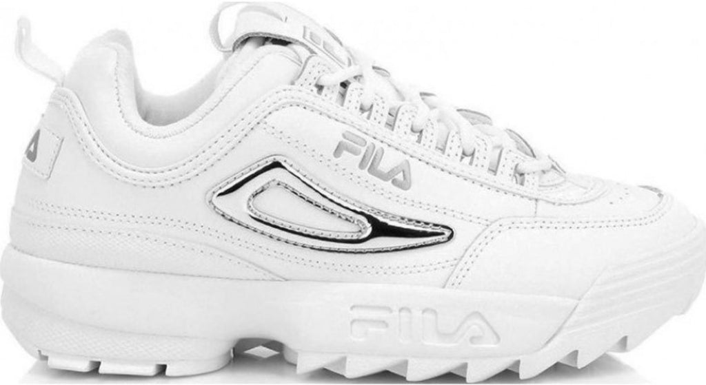 Fila-Disruptor-II-Metallic-Accent-Trainers-White