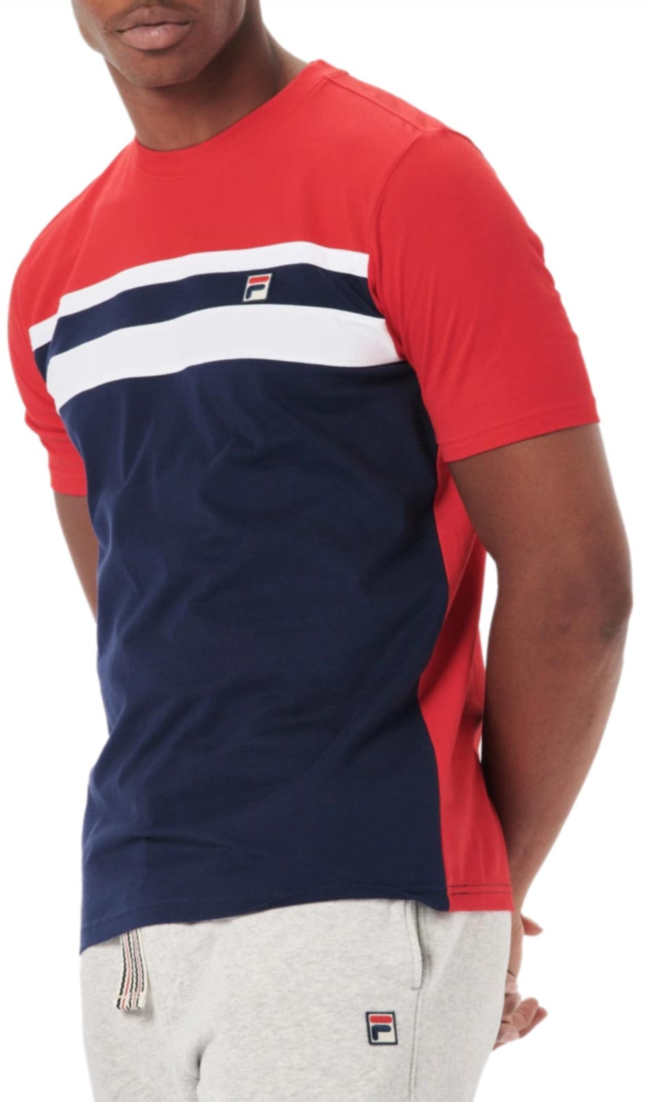 Fila Dover Colour Block T-Shirt Blue