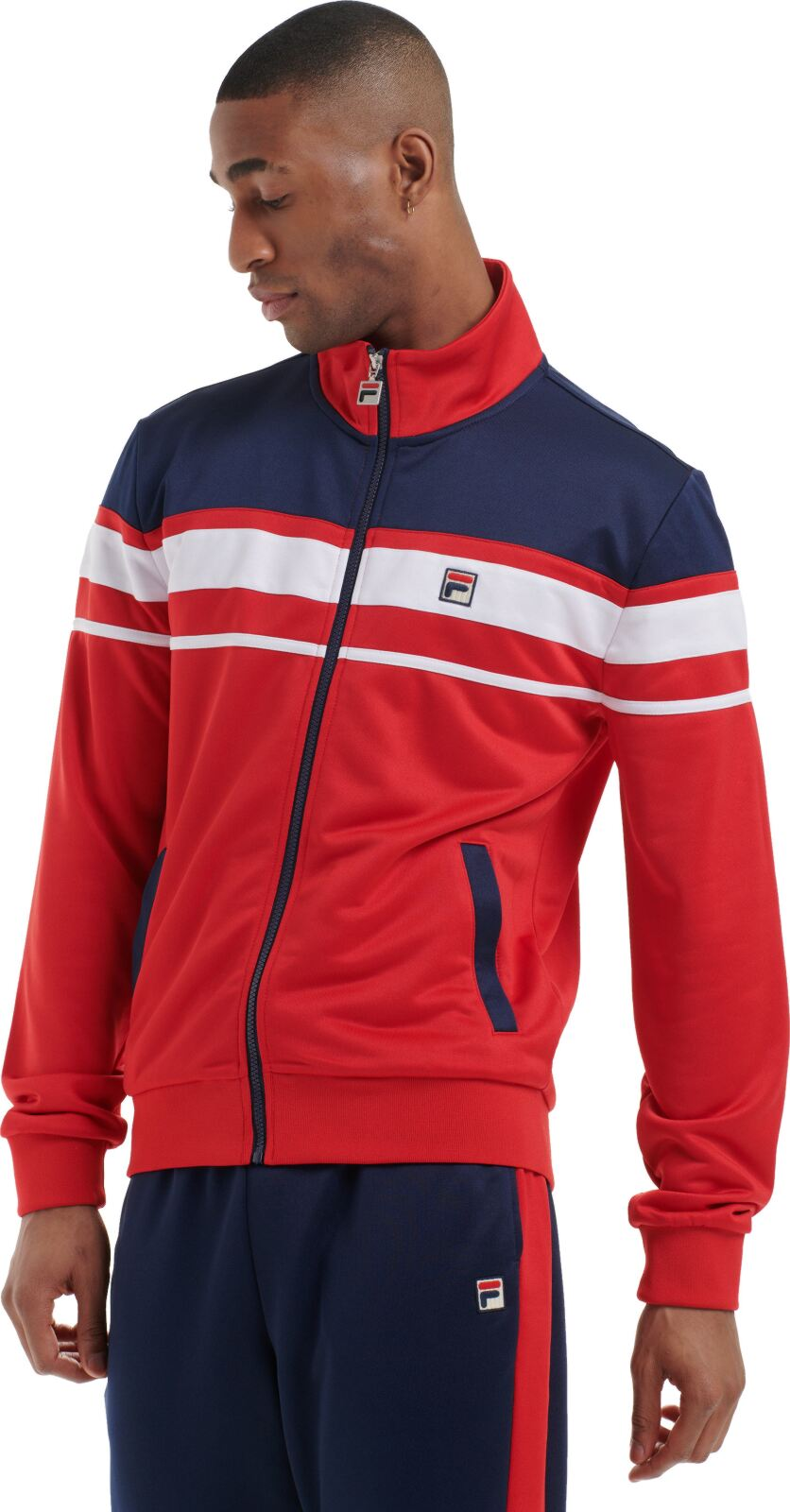 Fila Gordon Colorblock Track Jacket Red