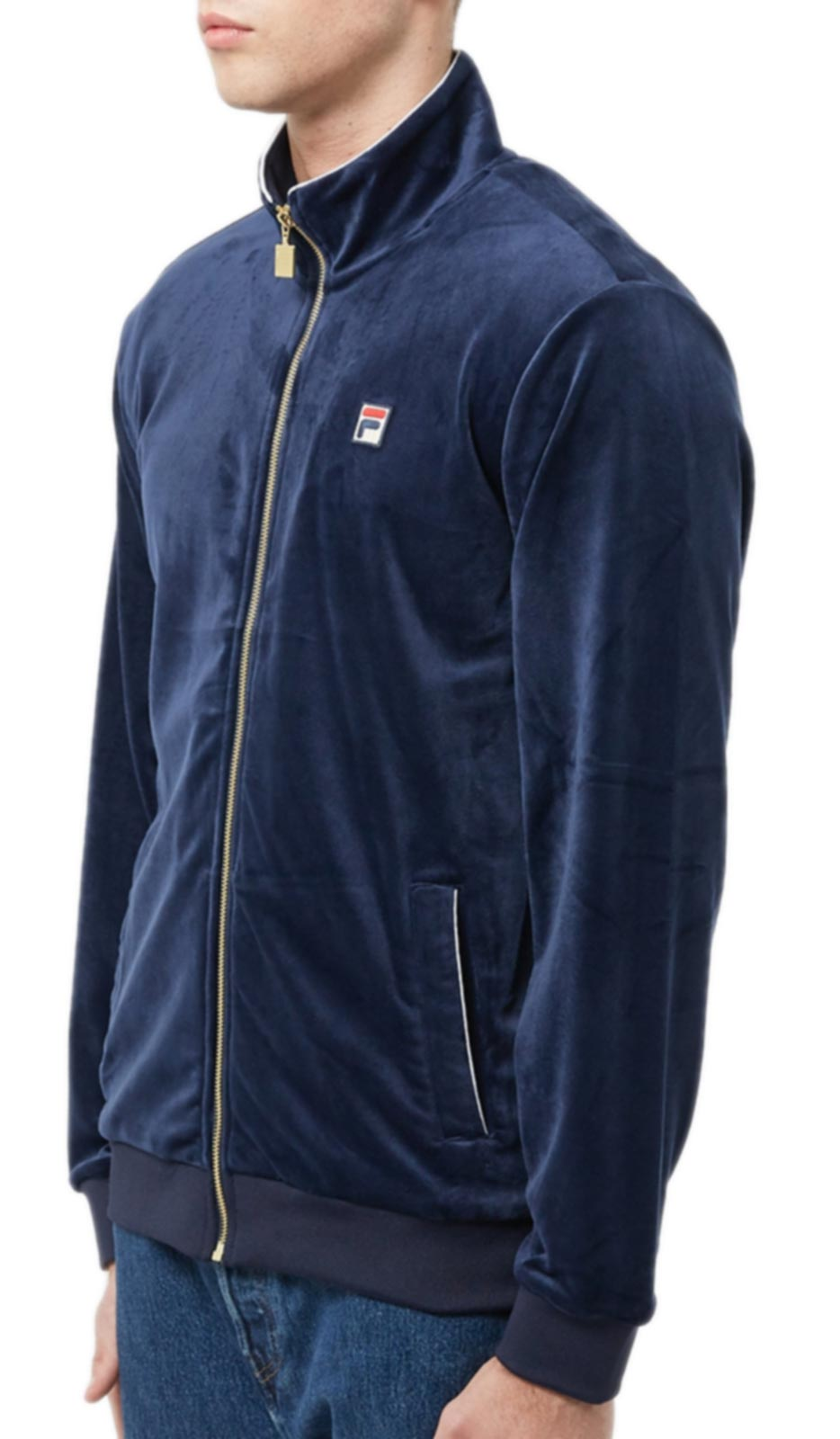 Fila Irving Velour Track Top Navy