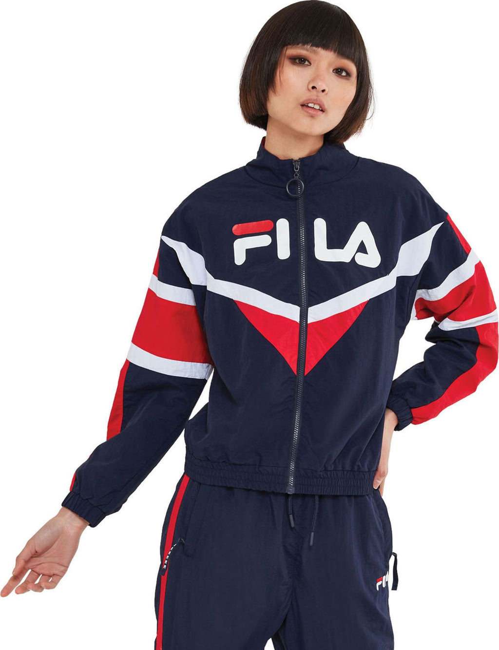 Fila-Jolie-Zip-Front-Track-Top-Blue