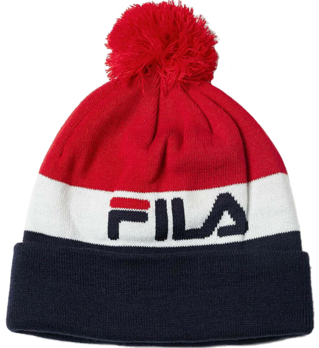 Fila-Kato-Jacquard-Bobble-Beanie-Hat-Multicoloured