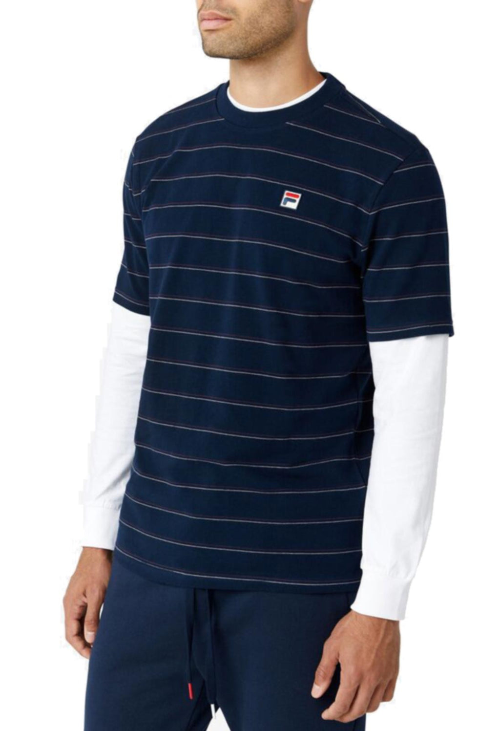 Fila Leon Striped T-Shirt Blue