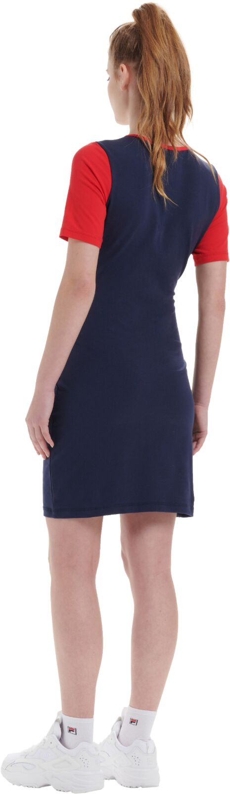Fila Roslyn Colourblock Bodycon Dress Navy