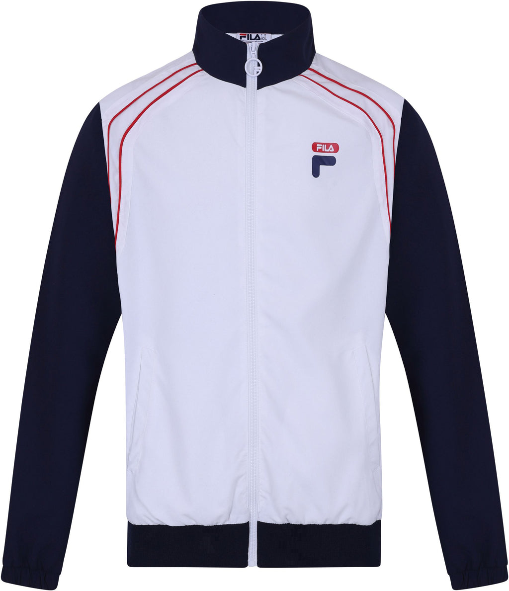 Fila Vaughn Piped Track Jacket White