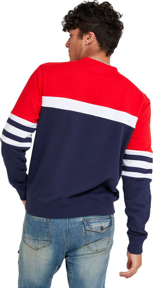 Fila Verus Colourblock Crew Neck Swearshirt Navy