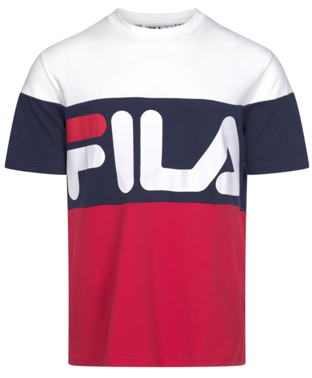 Fila Vialli Colour Block T-Shirt White