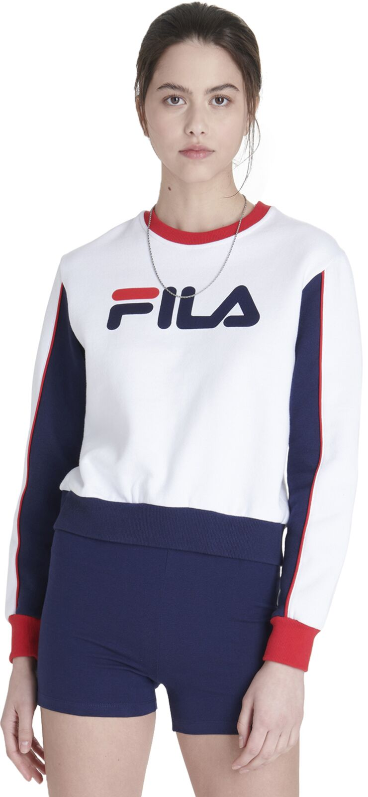 Fila Nuria Colourblock Sweatshirt White