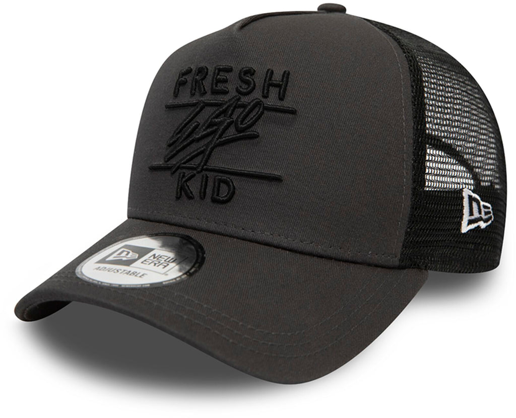 Fresh Ego Kid Mesh Trucker Baseball Cap Charcoal