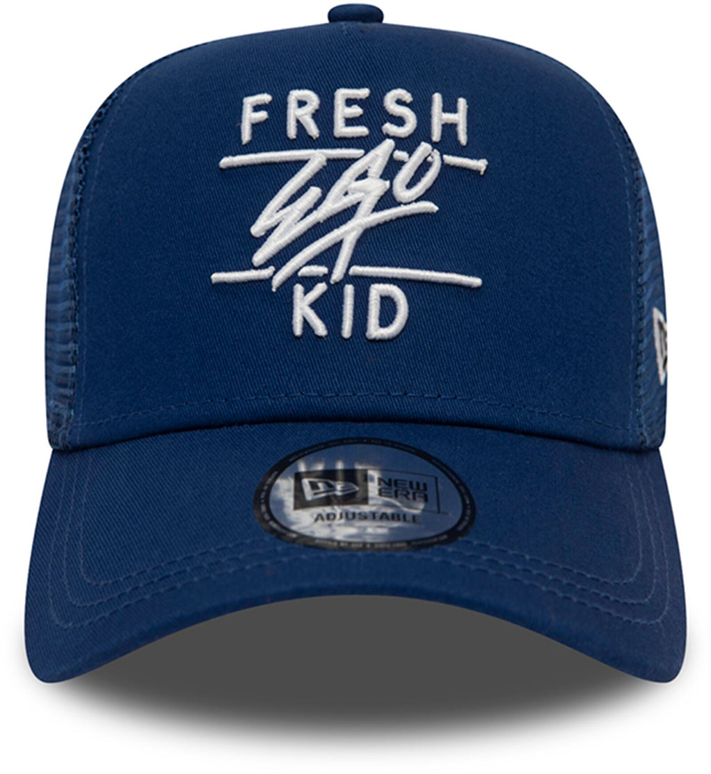 Fresh Ego Kid Mesh Trucker Baseball Cap Navy