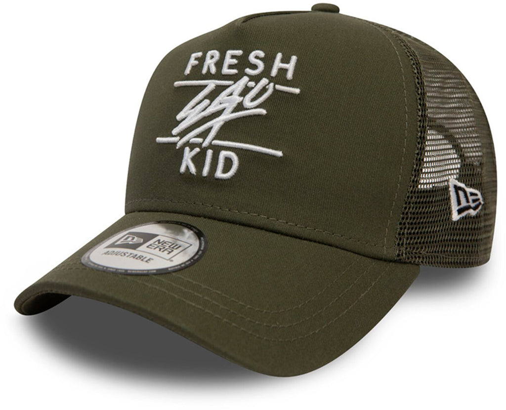 Fresh Ego Kid Mesh Trucker Baseball Cap Khaki