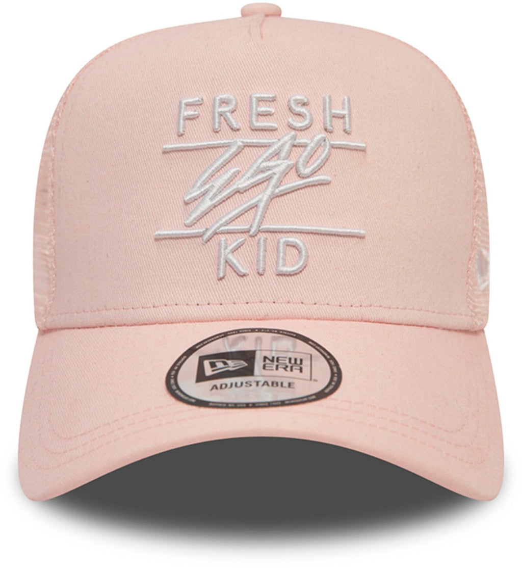 Fresh Ego Kid Mesh Trucker Baseball Cap Pink