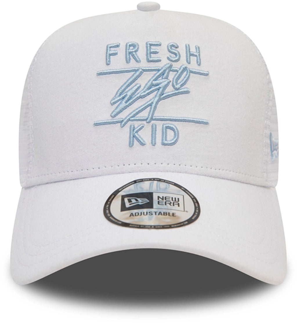 Fresh Ego Kid Mesh Trucker Baseball Cap White