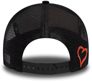 Fresh Ego Kid Mesh Trucker Snapback Baseball Cap Black/Red