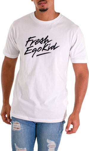 Fresh Ego Kid Script T-Shirt White