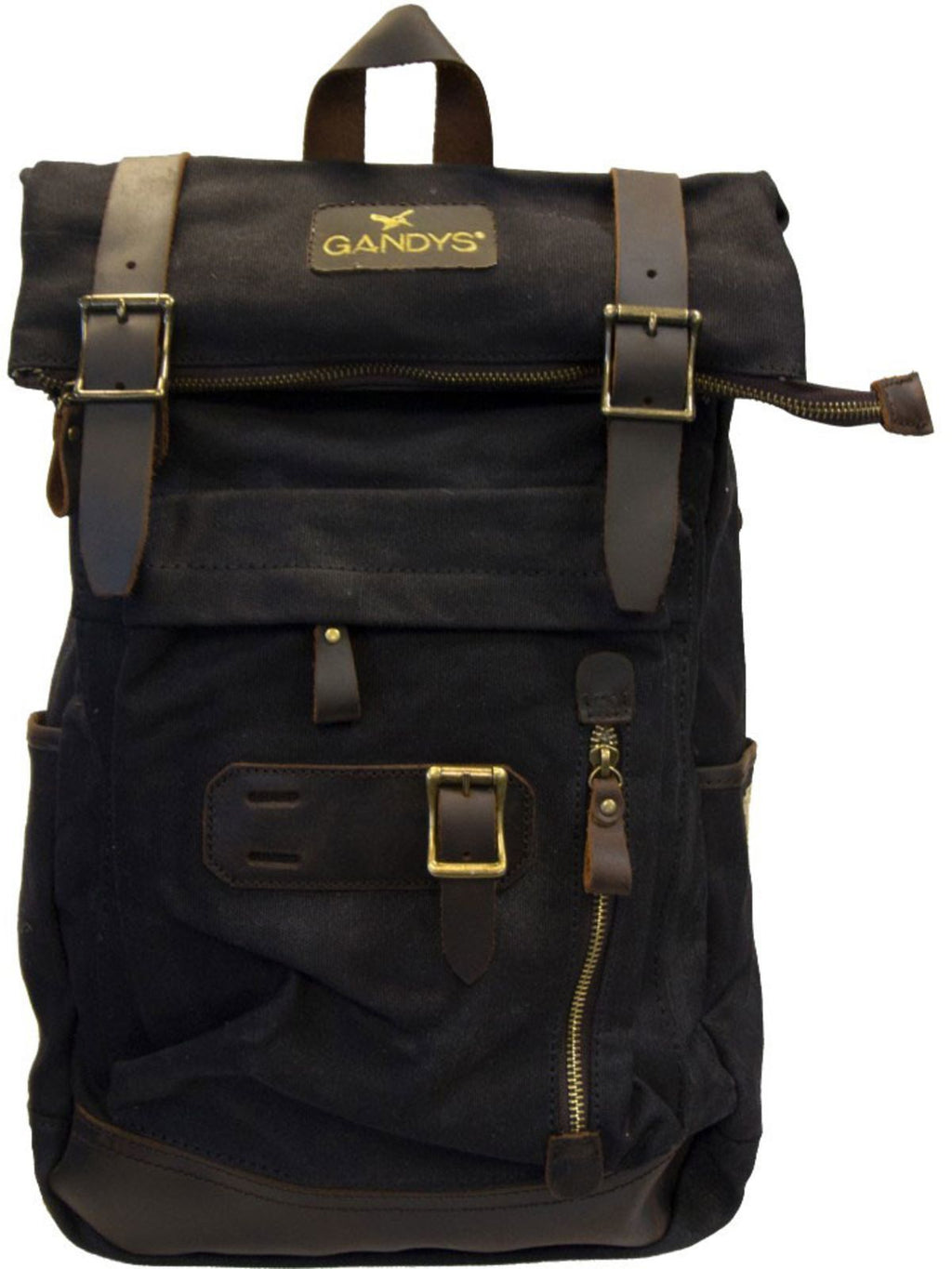 Gandys Bali Waxed Authentic Backpack Bag Black