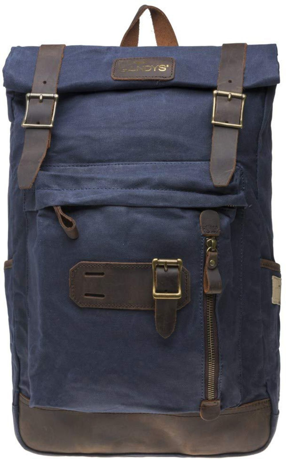 Gandys Bali Waxed Authentic Backpack Bag Blue