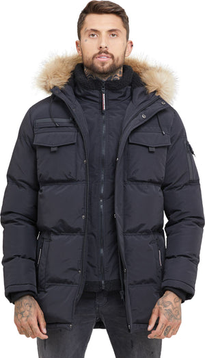 Good For Nothing Storm Double Layered Parka Jacket Black