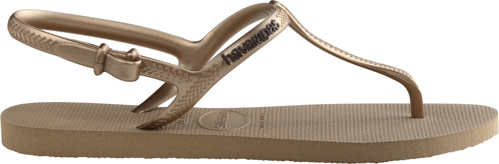 Havaianas Freedom Flip Flops Sandals Gold
